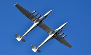 The Stratolaunch aircraft on its first flight last weekend