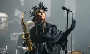 'A fabulously turned-out carrion crow': PJ Harvey at London's Brixton Academy.