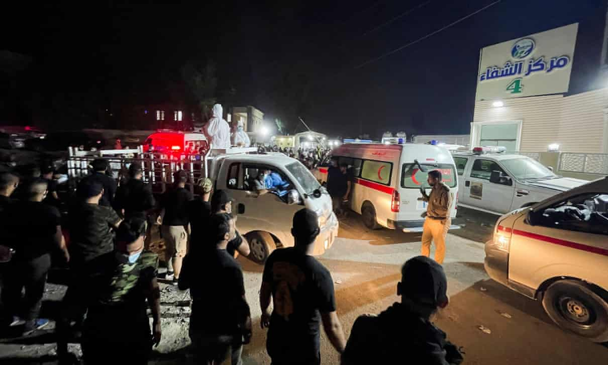 Iraq says 82 died in fire at Baghdad hospital housing Covid patients