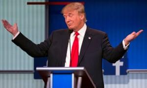 Donald Trump participates in the first Republican primary debate