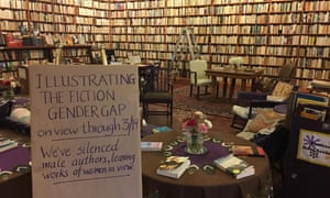 A bookstore in Cleveland kicked off International Women's Day by turning around every book on their shelves written by a male author.