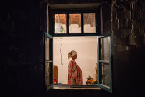 """The pregnant widow of a migrant worker taken in Chek, Batken Oblast. Between 2014 and 2015 <a href=""""https://instagram.com/elyornematov/"""">Elyor Nematov</a> documented the daily lives of the families left behind for his project, <a href=""""https://meduza.io/en/galleries/2015/10/16/father-comes-home-tomorrow"""">Father Comes Tomorrow</a>"""
