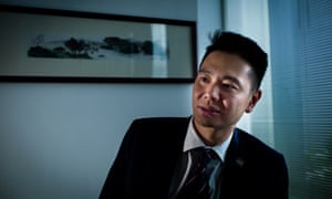 Holden Chow at his office in Hong Kong's legislative council.