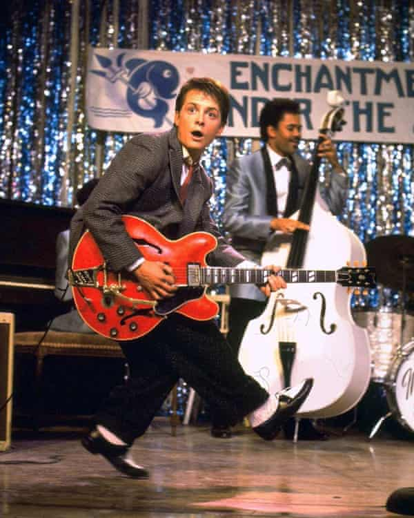 Michael J Fox as Marty in the 1985 film.