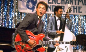 Michael J Fox as Marty McFly in the original Robert Zemeckis 1985 film Back to the Future.