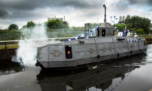 Taking the show on the canal … Submarine Time Machine takes place close to NTS's new offices.