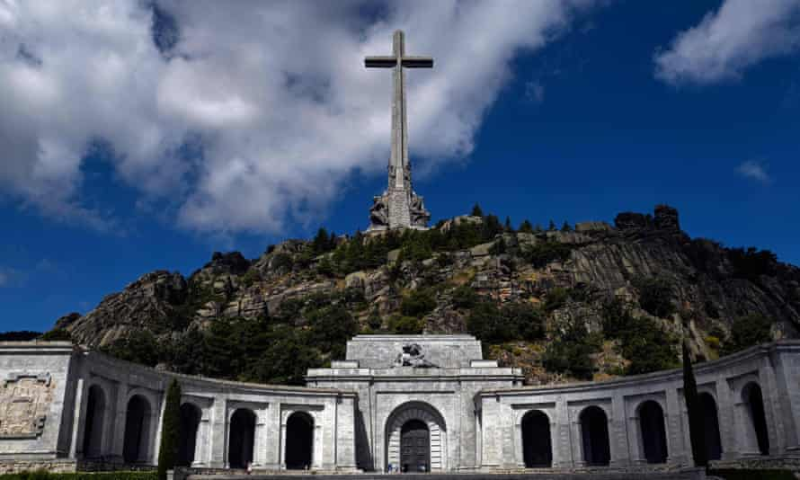 The tomb of Francisco Franco, marked with a 150-metre cross, in the Valle de los Caídos near Madrid.