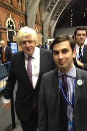Elliott Johnson with Boris Johnson