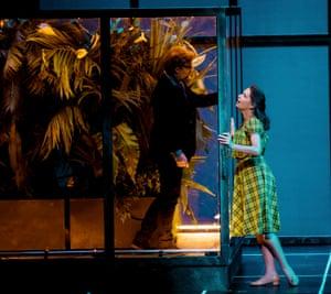 Jonas Kaufmann as Faust and Sophie Koch as Marguerite in La Damnation de Faust.