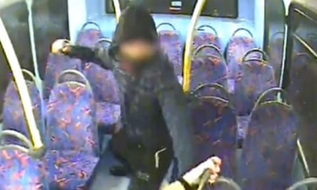 CCTV footage showing the attack on Melania Geymonat and Christine Hannigan on a London bus on 30 May.