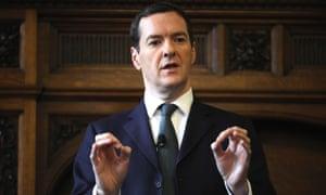 George Osborne makes a speech