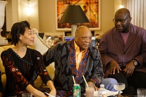 Artist and film-maker Steve McQueen (right, alongside Quincy Jones and Maureen Mahon) will open the Shed with a five-night concert series.