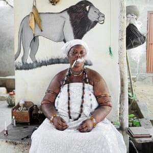 Idelphonse Adogbagbe, Mami Tchamba Priestess, Convent Hounfon Adogbagbe, Grand Popo, Benin 2011, Tchamba series