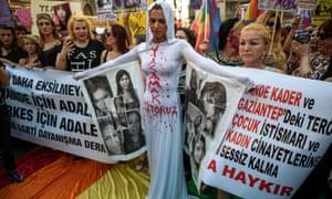 Istanbul protests about the murder of transgender activist Hande Kader
