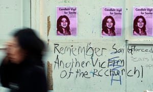 A 2012 poster advertising a memorial for Savita Hallapanavar.