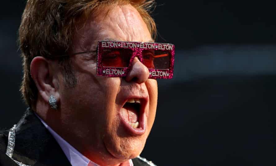 Elton John performing at Montreux Jazz festivalin 2019.