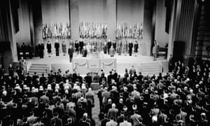 The founding assembly of the United Nations in San Francisco in 1945.