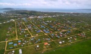 Vanuatu's capital Port Villa after Cyclone Pam in 2015