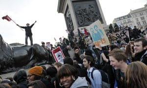 Students demonstrate against higher tuition fees, November 2010.