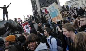 Students demonstrate against higher tuition fees