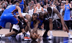 The wild end to the Spurs-Thunder game: we're still trying to piece it all together.