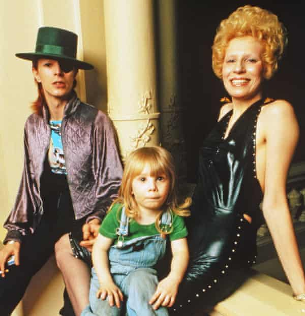 Bowie with wife Angie and son Zowie in 1974.