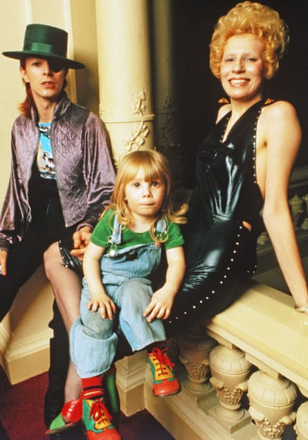 David Bowie with then-wife Angie and son Duncan in 1974.