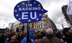 Crowds march through London on Saturday to demand a People's Vote on Brexit deal.