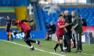 Ole Gunnar Solskjaer compliments Daniel James as he is replaced by Paul Pogba