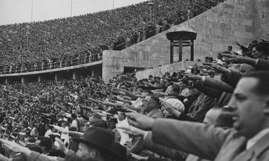 Crowds at the Olympic stadium in Berlin, August 1936.
