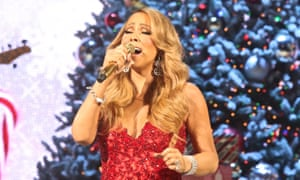 Mariah Carey singing All I Want For Christmas