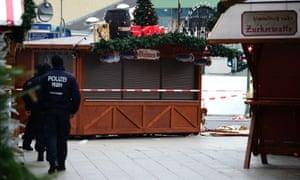 Police patrol near Berlin Christmas market