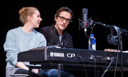 Seana Kerslake as musician Cat and Ben Chaplin as producer Bernard in Mood Music.