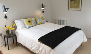 Image of a bedroom at Five Acre Barn, Suffolk.
