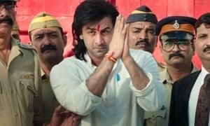 Ranbir Kapoor as Sanjay Dutt in Sanju.