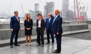Donald Trump tours the Shell Pennsylvania Petrochemicals Complex in August.