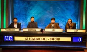 St Edmund Hall Oxford team, University challenge final 2019.