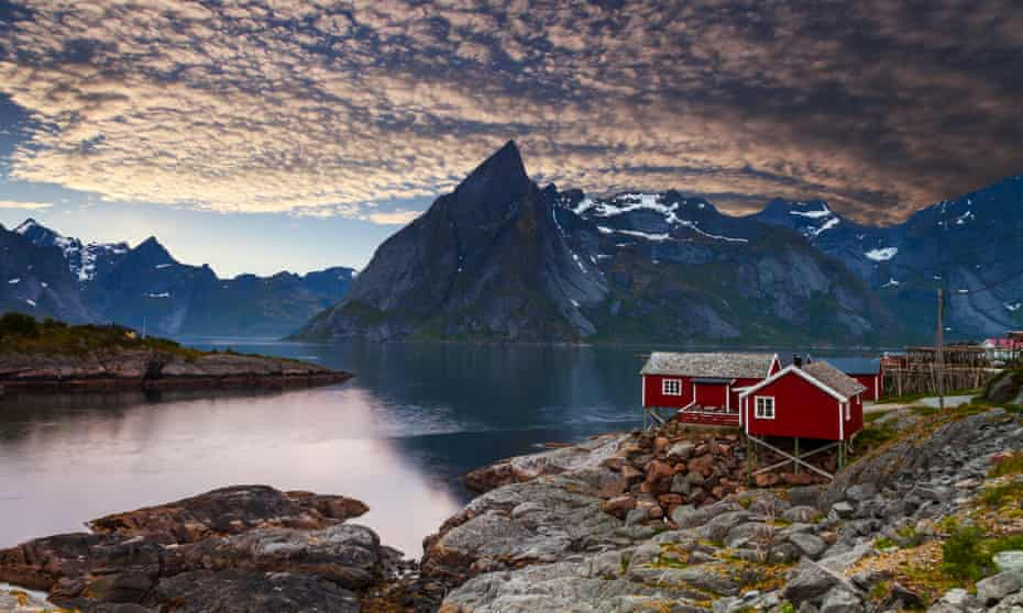 Holiday cabins on the Lofoten Islands, Norway