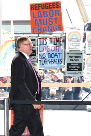 Anthony Albanese: 'unlike other caucus members I won't just sit there and do nothing. This [boat turnbacks] is a red line we cannot cross.'<br>