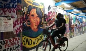 A Breonna Taylor mural at Black Lives Matter Plaza in Washington.