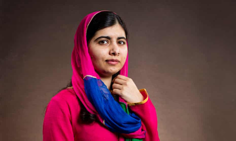 'We think of refugees as victims, but they also show us how much courage they have' … Malala Yousafzai