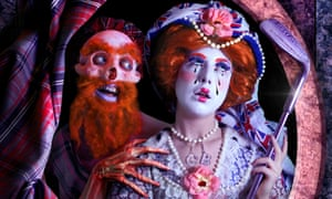 A contemporary exploration of national identity ... The Queen (2013) by Rachel Maclean on show at the National Gallery.