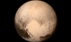 A picture of Pluto sent from the New Horizons spacecraft.
