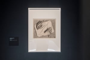 Drawing Hands by MC Escher which features at Between Two Worlds at the NGV.