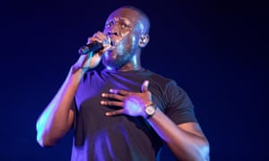 Barrelling through his hits ... Stormzy performing at BBC Radio 1's Big Weekend in Middlesbrough.
