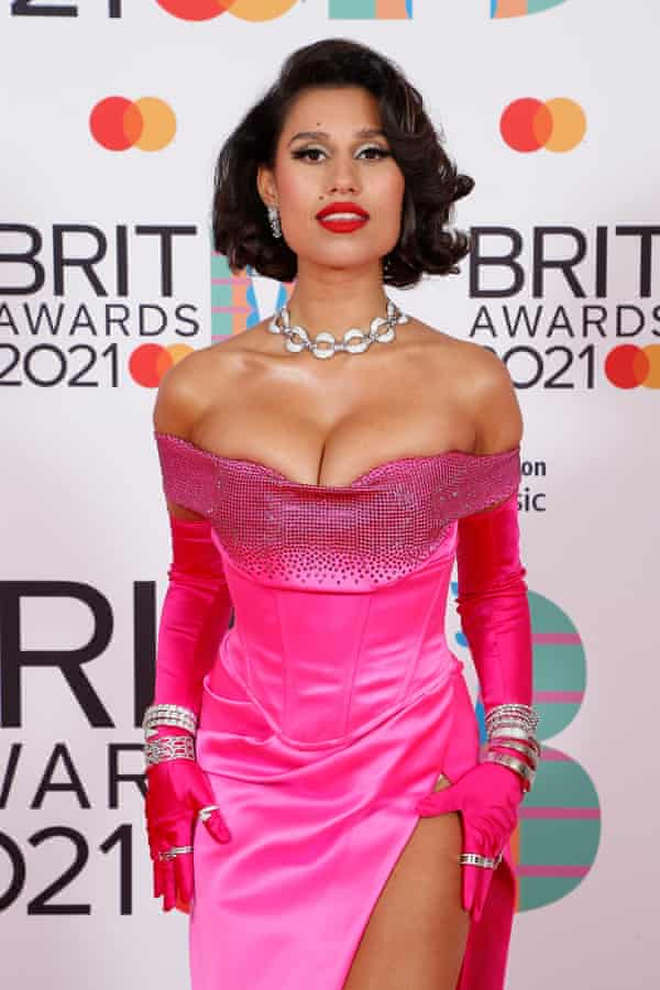 Raye at this year's Brit awards, where she was nominated for British single.