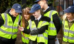 Russell Scott primary school pupils were recruited as 'junior PCSOs'.