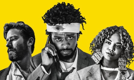 From left: Armie Hammer, Lakeith Stanfield and Tessa Thompson in Sorry To Bother You.