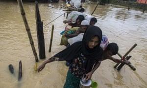 More than 400,000 Rohingya Muslims have fled Myanmar.