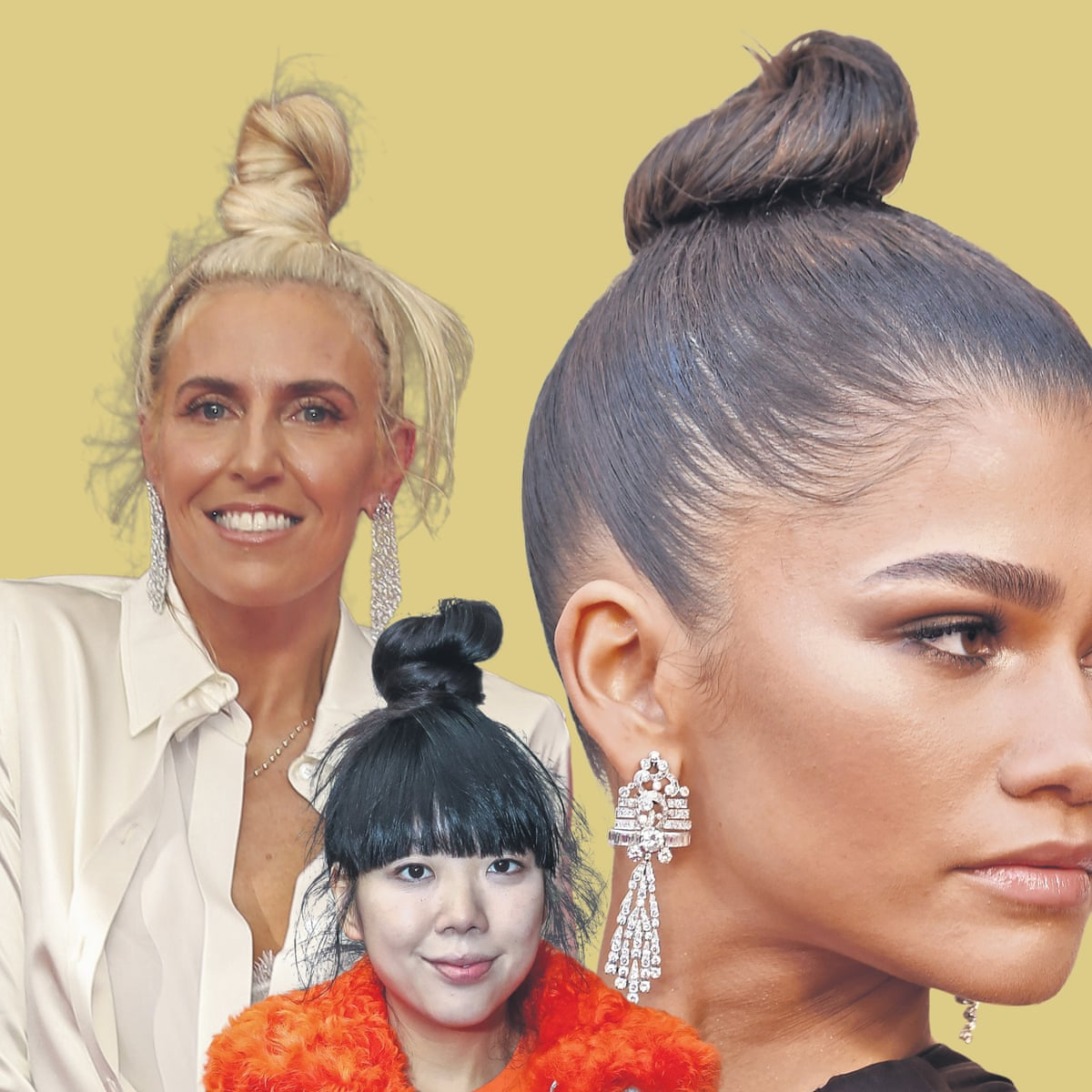 Rise of the topknot: why big buns are everywhere   Women's hair ...